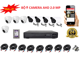 Bộ 8 Camera AHD 2.0 MP